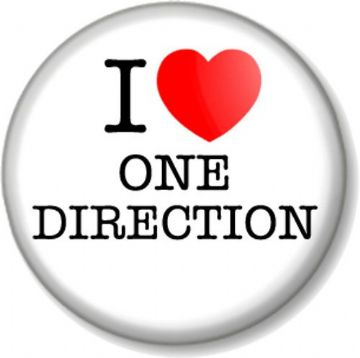 I Love / Heart One Direction Pinback Button Badge Harry Styles Zayn Niall Liam Louis Boy Band